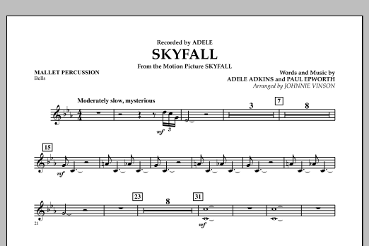 Skyfall - Mallet Percussion (Concert Band: Flex-Band)