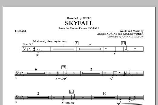 Skyfall - Timpani (Concert Band: Flex-Band)
