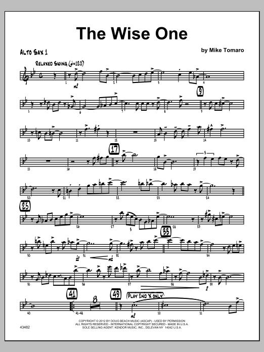Wise One, The - Alto Sax 1 (Jazz Ensemble)