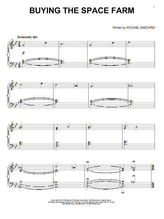 Buying The Space Farm Sheet Music