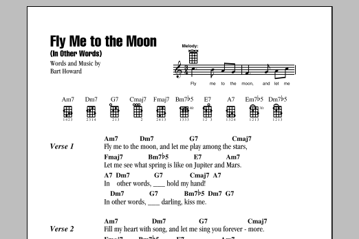 Tablature guitare Fly Me To The Moon (In Other Words) de Tony Bennett - Ukulele (strumming patterns)