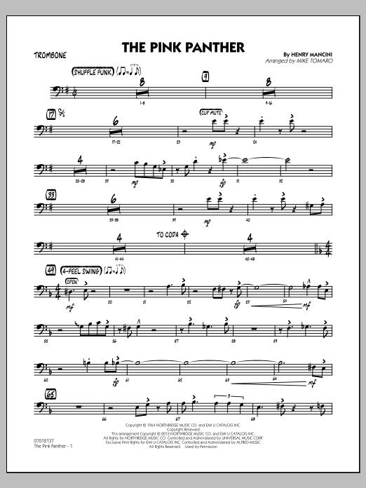 The Pink Panther - Trombone (Jazz Ensemble)