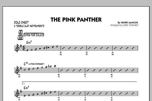The Pink Panther - C Solo Sheet (Jazz Ensemble)