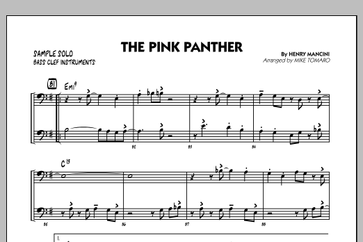 The Pink Panther - Bass Clef Sample Solo (Jazz Ensemble)