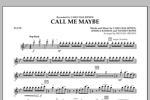 Call Me Maybe - Flute (Concert Band)