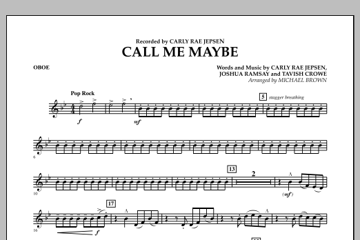 Call Me Maybe - Oboe (Concert Band)