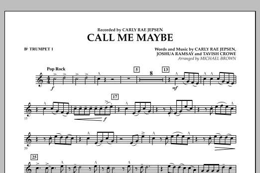 Call Me Maybe - Bb Trumpet 1 (Concert Band)