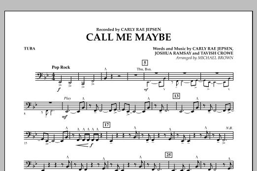 Call Me Maybe - Tuba (Concert Band)