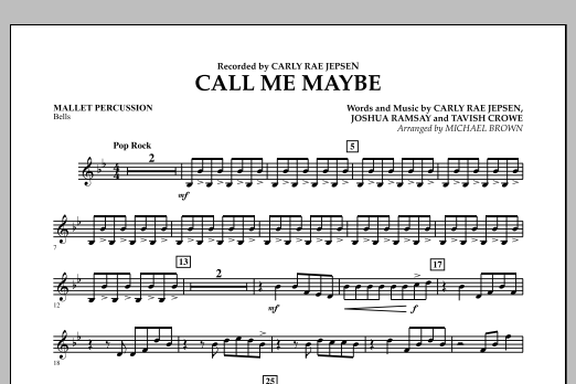 Call Me Maybe - Mallet Percussion (Concert Band)