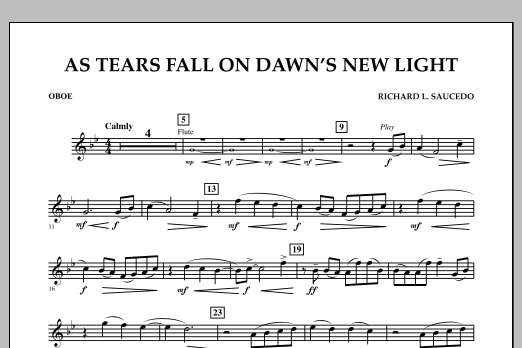 As Tears Fall on Dawn's New Light - Oboe (Concert Band)
