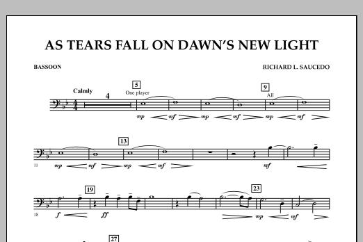 As Tears Fall on Dawn's New Light - Bassoon (Concert Band)