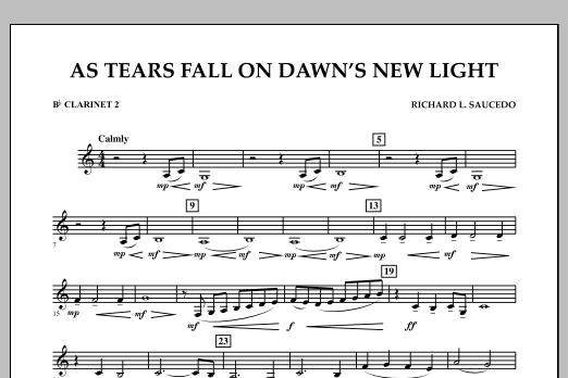 As Tears Fall on Dawn's New Light - Bb Clarinet 2 (Concert Band)