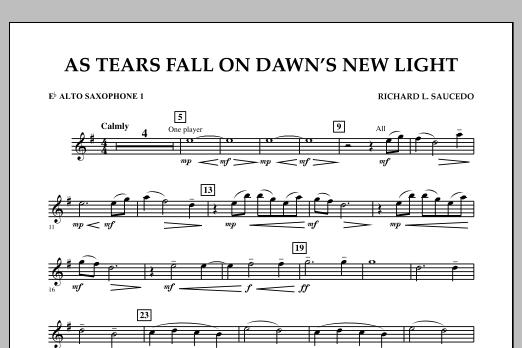 As Tears Fall on Dawn's New Light - Eb Alto Saxophone 1 (Concert Band)