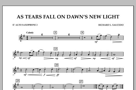 As Tears Fall on Dawn's New Light - Eb Alto Saxophone 2 (Concert Band)