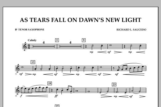 As Tears Fall on Dawn's New Light - Bb Tenor Saxophone (Concert Band)