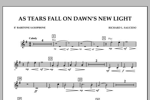 As Tears Fall on Dawn's New Light - Eb Baritone Saxophone (Concert Band)