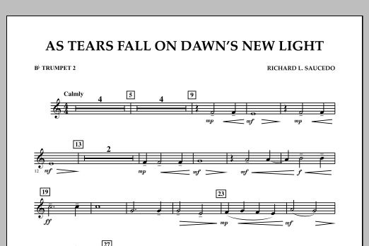 As Tears Fall on Dawn's New Light - Bb Trumpet 2 (Concert Band)