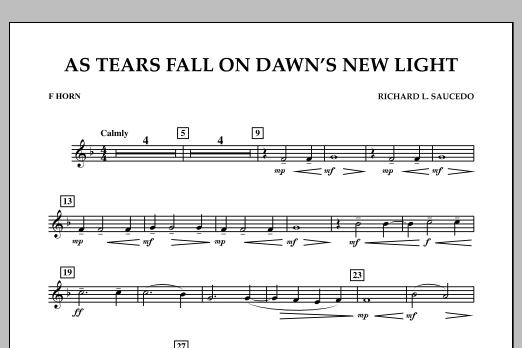 As Tears Fall on Dawn's New Light - F Horn (Concert Band)