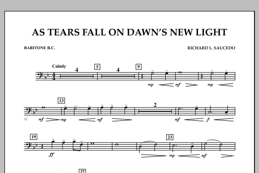 As Tears Fall on Dawn's New Light - Baritone B.C. (Concert Band)