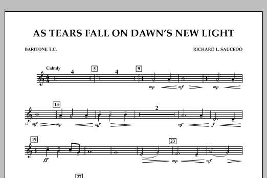 As Tears Fall on Dawn's New Light - Baritone T.C. (Concert Band)