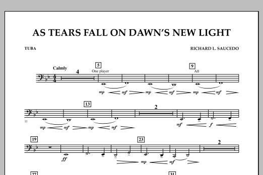 As Tears Fall on Dawn's New Light - Tuba (Concert Band)
