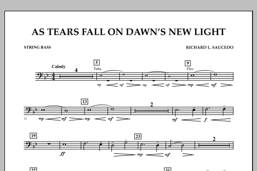 As Tears Fall on Dawn's New Light - String Bass (Concert Band)