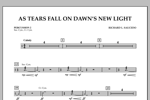 As Tears Fall on Dawn's New Light - Percussion 2 (Concert Band)