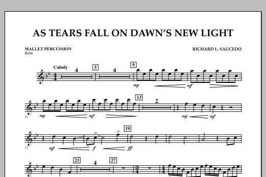 As Tears Fall on Dawn's New Light - Mallet Percussion (Concert Band)