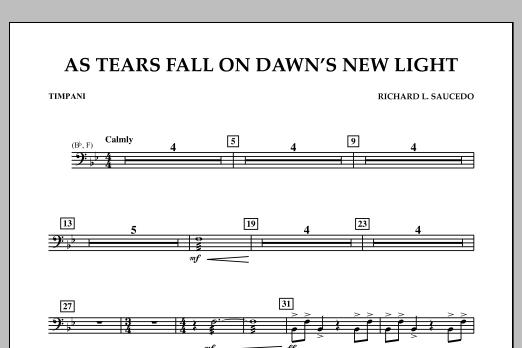 As Tears Fall on Dawn's New Light - Timpani (Concert Band)