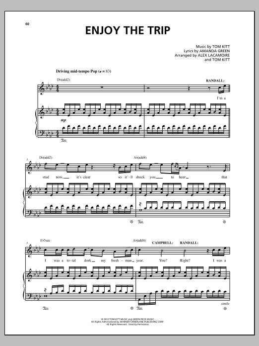 Enjoy The Trip Sheet Music