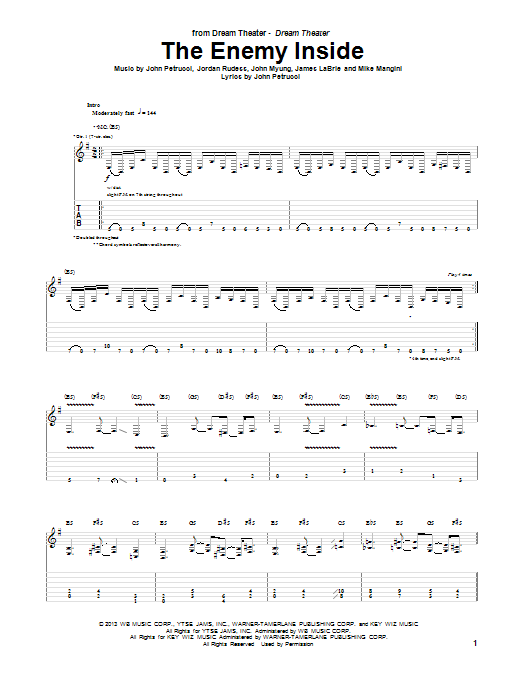 Dream Theater Home Drum Sheet Music