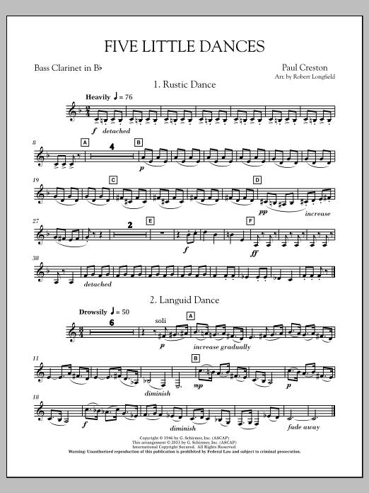 Five Little Dances - Eb Alto Clarinet Sheet Music