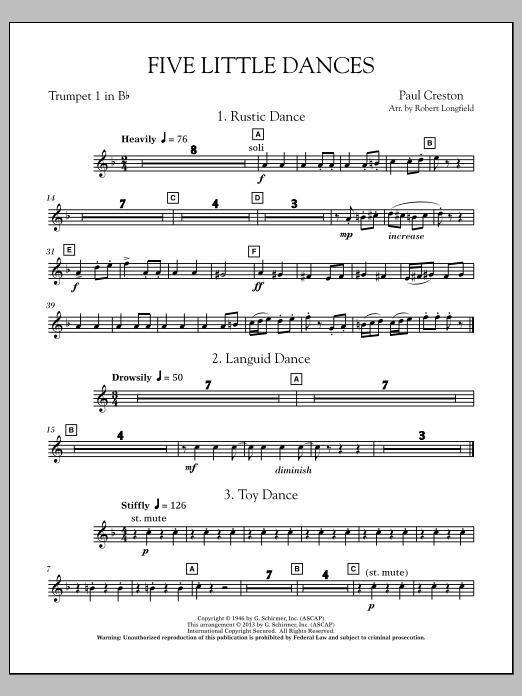 Five Little Dances - Bb Trumpet 1 Sheet Music