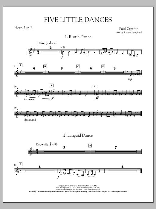 Five Little Dances - F Horn 2 Sheet Music