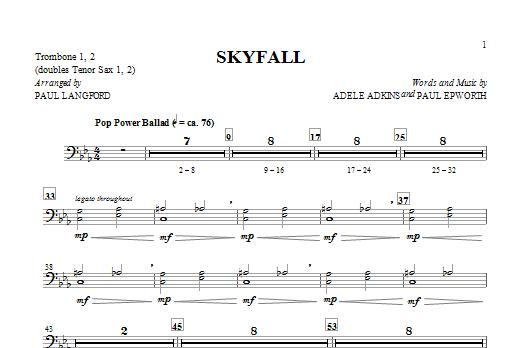 Skyfall (arr. Paul Langford) - Trombone 1 & 2 (Choir Instrumental Pak)