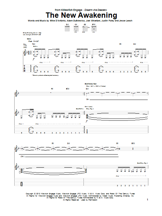 The New Awakening Sheet Music