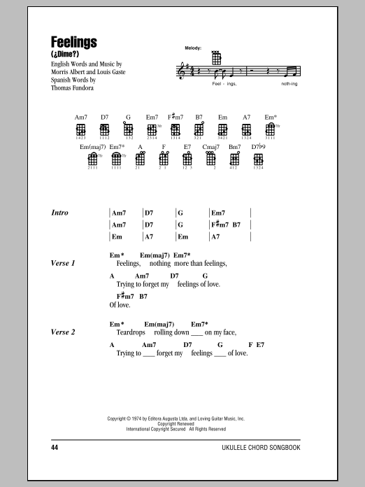 Feelings (Dime) Sheet Music