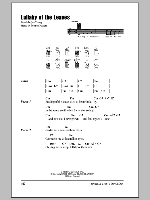 Lullaby Of The Leaves Sheet Music