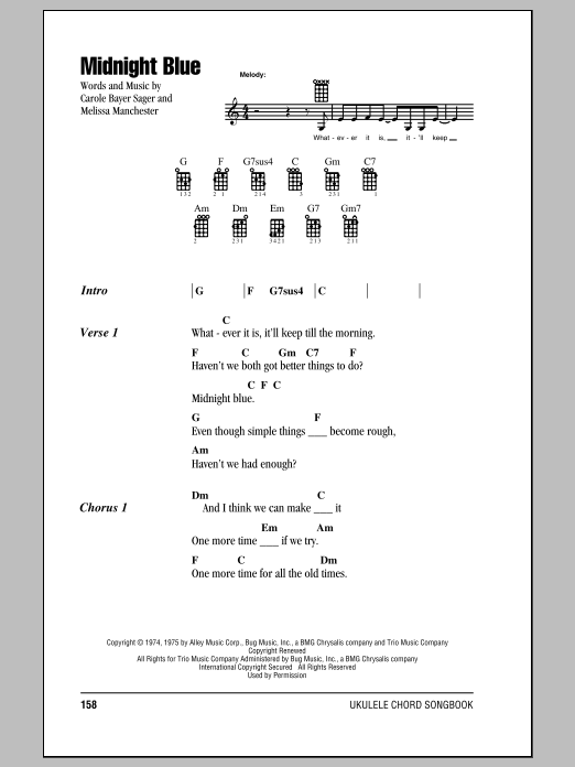 Midnight Blue Sheet Music