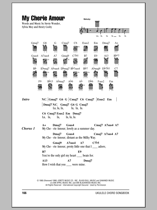 My Cherie Amour Sheet Music