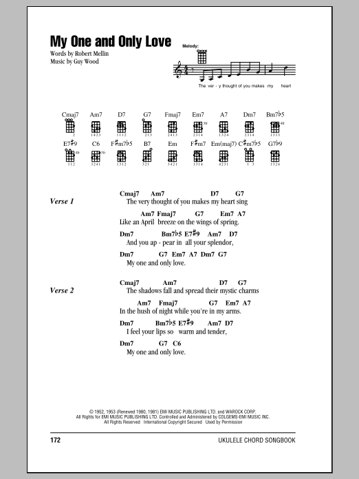 Tablature guitare My One And Only Love de Frank Sinatra - Ukulele (strumming patterns)