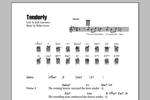 Tablature guitare Tenderly de Jack Lawrence - Ukulele (strumming patterns)