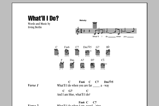 Tablature guitare What'll I Do? de Irving Berlin - Ukulele (strumming patterns)