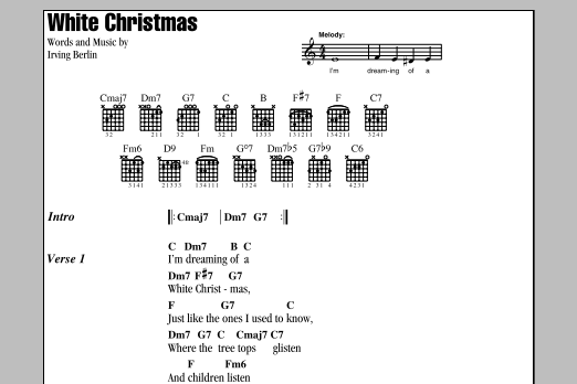 White Christmas Lyrics.White Christmas By Irving Berlin Guitar Chords Lyrics