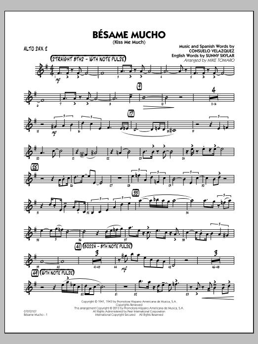 Besame Mucho (Kiss Me Much) - Alto Sax 2 (Jazz Ensemble)