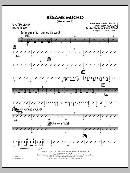 Besame Mucho (Kiss Me Much) - Aux Percussion (Jazz Ensemble)