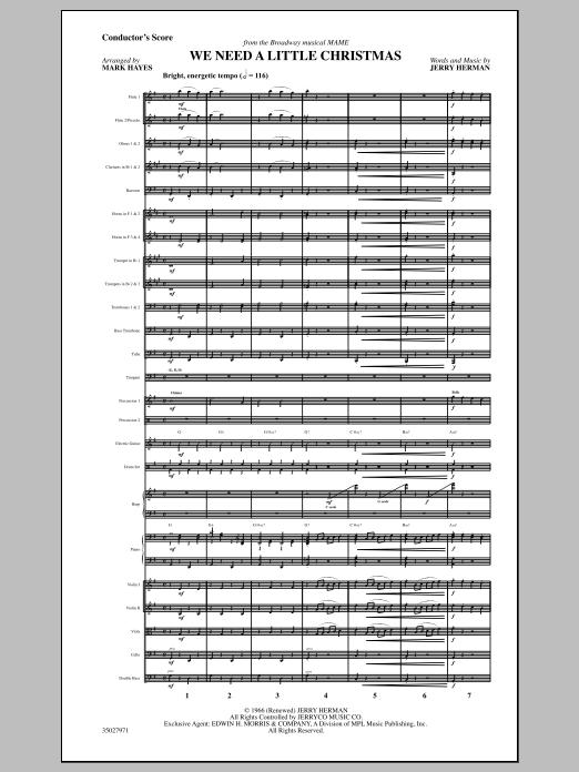 We Need a Little Christmas - Full Score Sheet Music