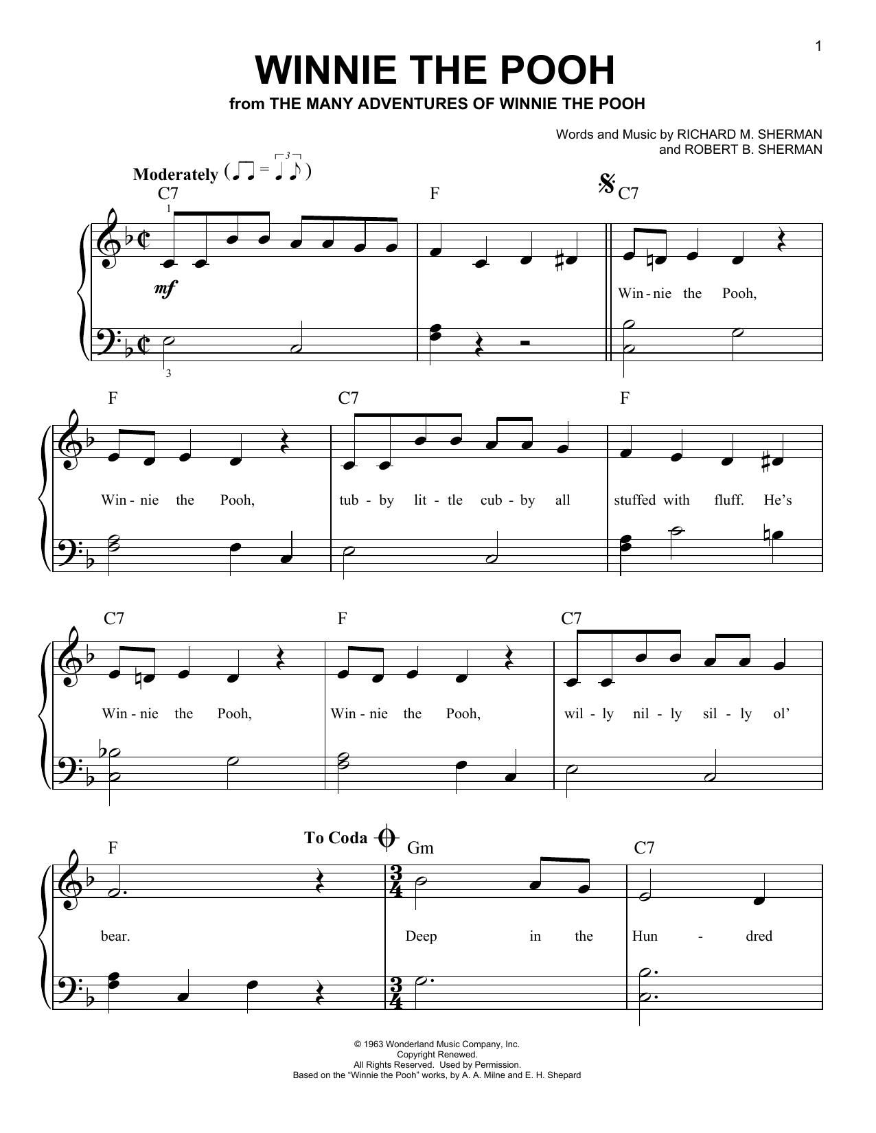 Winnie The Pooh (Easy Piano)