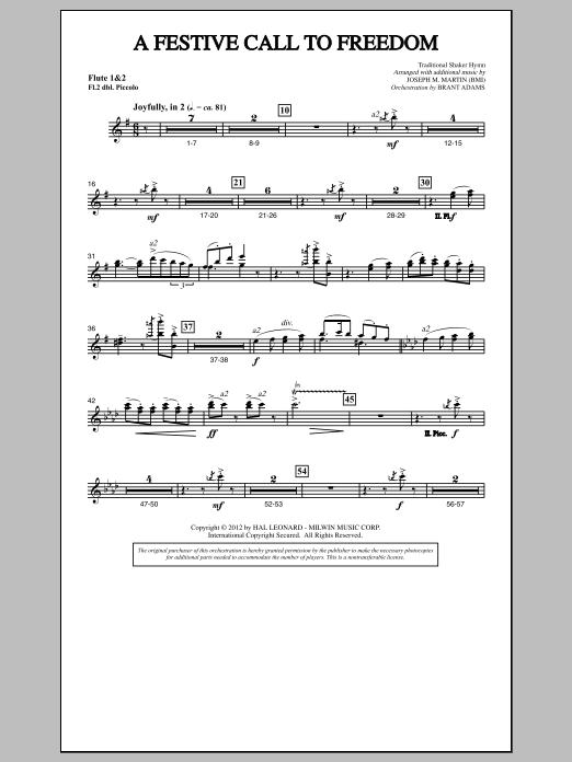 A Festive Call to Freedom - Flute 1,2/Piccolo (Choir Instrumental Pak)