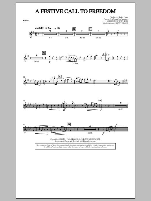 A Festive Call to Freedom - Oboe (Choir Instrumental Pak)